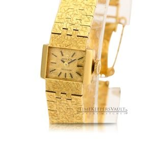 Vintage Rolex Lady Precision 18K Yellow Gold Watch